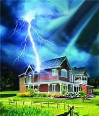 Молниезащита зданий, молниеприемник г.Хабаровск