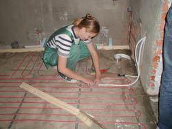 Монтаж электрического теплого пола в Хабаровске. электрический теплый пол