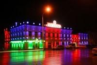 Наружное освещение: архитектурное освещение зданий, фасадов дома в Хабаровске